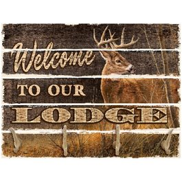 Welcome to the Lodge Pallet Coat Rack(Drop Ship)