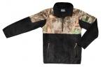 QF Columbia Youth PHG 1/2 Zip Overlay Fleece - Black