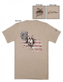 QF Point Hard GSP Patriotic Tee - Stone