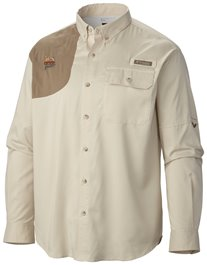 QF Columbia Blood & Guts Shooting Shirt - Fossil/Flax