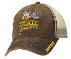 QF Browning Wax Mesh Back Trucker Hat-Brown