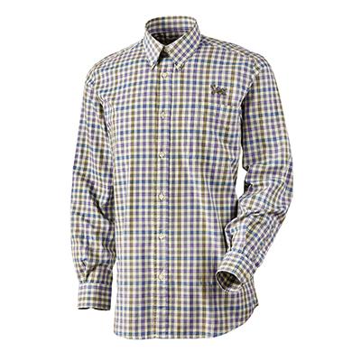 QF Beretta Drip Dry No Iron Shirt - Blue Plaid