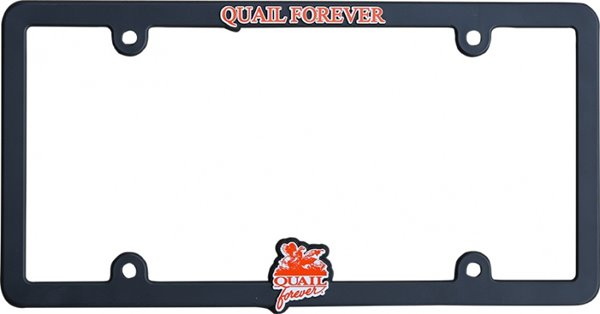 Universal License Plate Frame-QF-Black