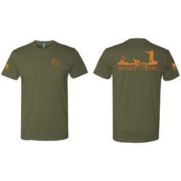QF Women On The Wing T-Shirt - Green