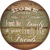 Home-Friends like Family Wood Sign (Drop Ship Item)