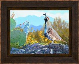 Framed Canvas Springtime Sentinel by Jim Kasper