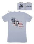 QF Point Hard GSP Patriotic Tee - Heather Blue