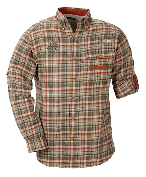 QF Columbia Sharptail Flannel - Red/Green Plaid