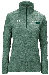 QF Under Armour Women's Twisted Tech 1/4 Zip Green