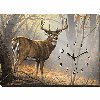 In His Prime - Whitetail Deer Wrapped Canvas Clock
