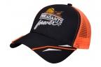 PF Rooster Racer Meshback Hat -Black/Blaze