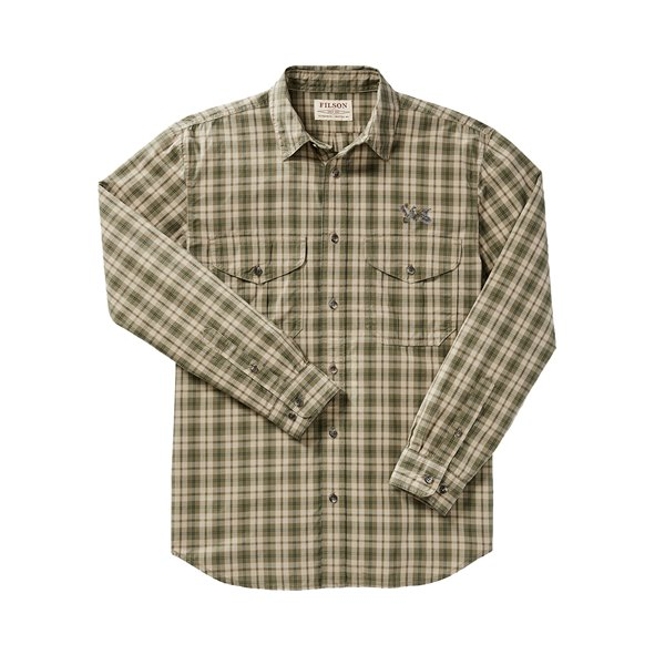 QF Filson's Feather Cloth Long Sleeve Shirt-Plaid