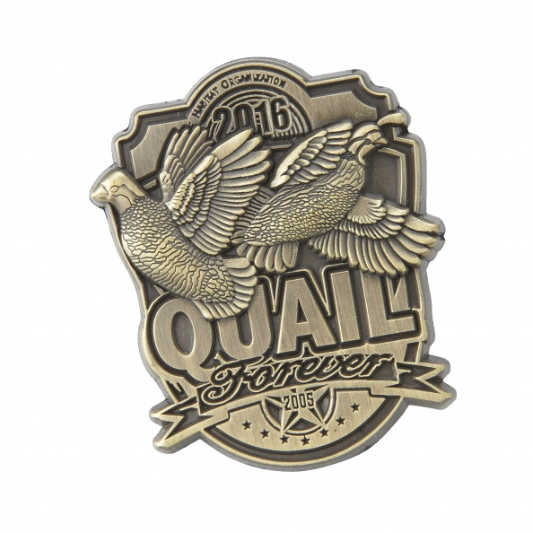 QF Limited Edition 2016 Pin in Antique Brass