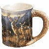 Last Glance - Mule Deer Sculpted Mug