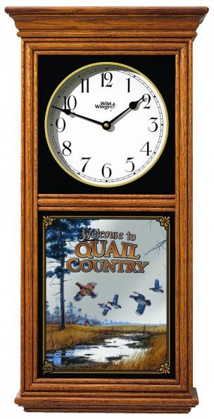Welcome To Quail Country Regulator Clock