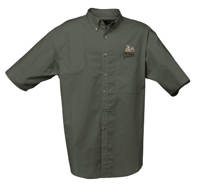 Browning Badger Creek SS Shirt w/QF Logo-Pine-2X
