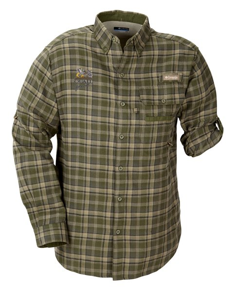QF Columbia Sharptail Flannel - Green Plaid