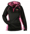 QF Gamehide Ladies Hoodie - Black/Pink